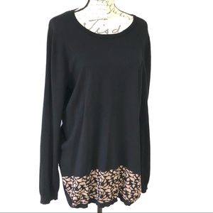 3 for $25 Stretch Cheetah Pullover Sweater Plus XL